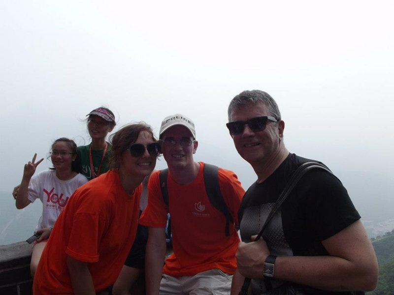 Bianca, David and Pieter Swart on the Great Wall of China