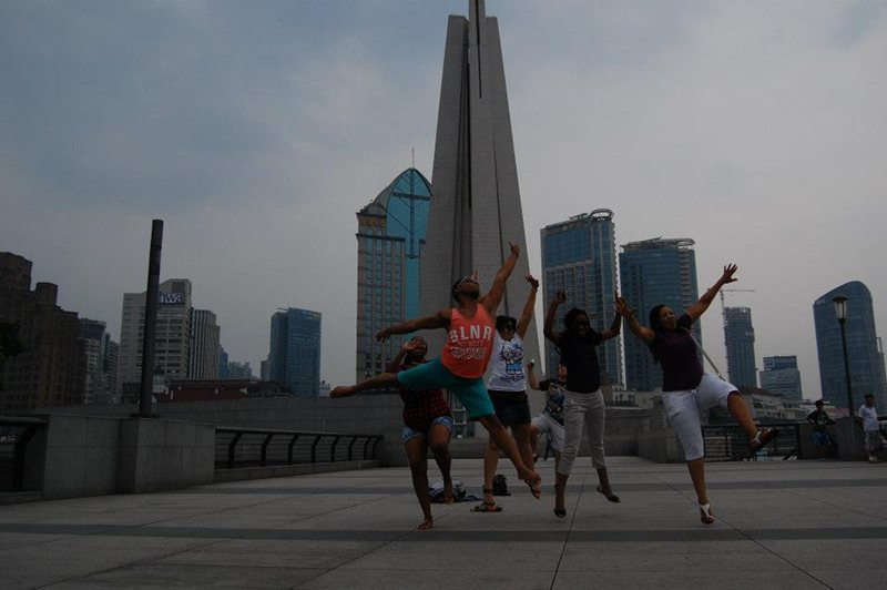Leaping for joy in Shanghai