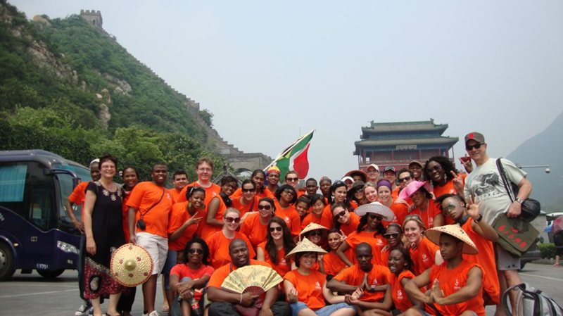 The NMMU Choir at the Great Wall of China