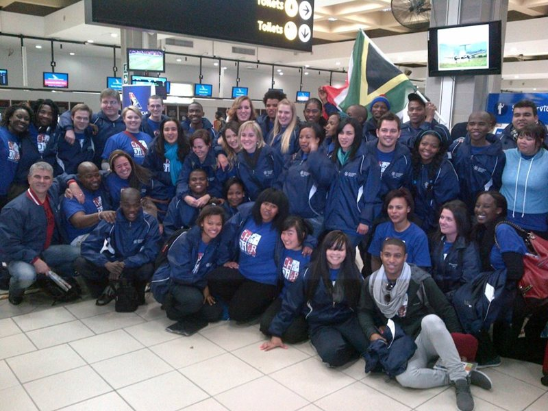 At Port Elizabeth Airport about to leave
